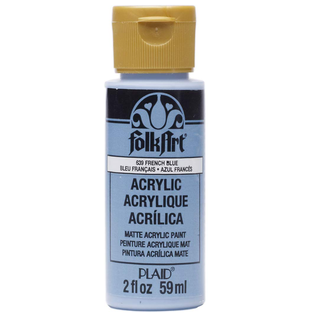 FolkArt Acrylic Paint in Assorted Colors (2 oz), 639, French Blue