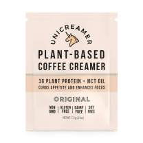 Unicreamer Vegan Non Dairy Coffee Creamer (New & Improved) - Single Serve Individual Packets With Pea Protein Powder & MCT oil | Eco Friendly, Keto & Gluten Free Plant Based (Original, 12 pack)