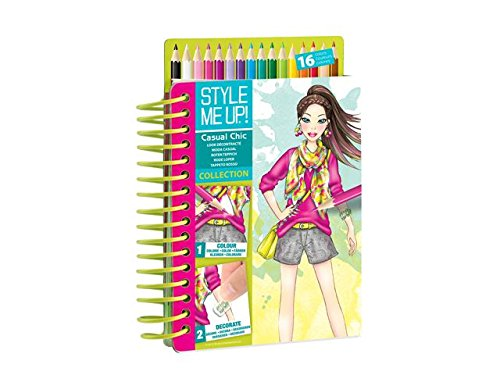 Style Me Up - Fashion Design Coloring Book for Girls - Set of Pencils and Stickers - Urban Chic Collection - SMU-1477