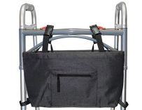 RMS Walker Bag with Soft Cooler - Water Resistant Tote with Temperature Controlled Thermal Compartment, Universal Fit for Walkers, Scooters or Rollator Walkers (Black)
