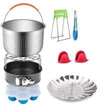 Accessories for Instant Pot,12 Pcs Power Cooker Accessories with Steamer Basket/Springform Pan/Egg Bites Mold/Egg Steamer Rack/Vegetable Steamer Basket/Dish Clip/Tong/Mitts