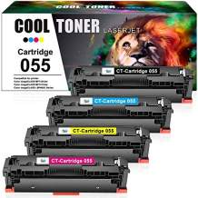 Cool Toner Compatible Toner Cartridge Replacement for Canon 055 055H MF743Cdw Toner Canon imageCLASS MF741Cdw MF746Cdw MF745Cdw MF743 LBP664Cdw Printer (Black Cyan Magenta Yellow, with Chip, 4-Pack)