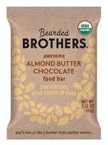 Bearded Brothers Vegan Organic Food Bar | Gluten Free, Paleo and Whole 30 | Soy Free, Non GMO, Low Glycemic, No Sugar Added, Packed with Protein, Fiber, Whole Foods | Almond Butter Chocolate | 5 Pack