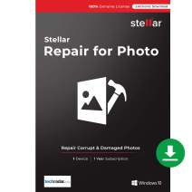 Stellar Repair for Photo Software | for Windows | Standard | Repairs Corrupt or Damaged Photos | 1 Device, 1 Yr Subscription | Instant Download (Email Delivery)