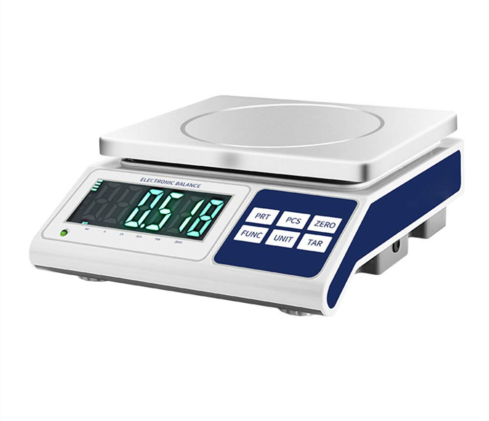 NEWTRY Digital Commercial Scale Balance Precision Electronic Accurate Bench Scale Industrial Counting Scale for Lab Weighing Food Parts 0.2g (220V EU/UK/AUPlug, 50HZ, MAX 20kg 0.2g)