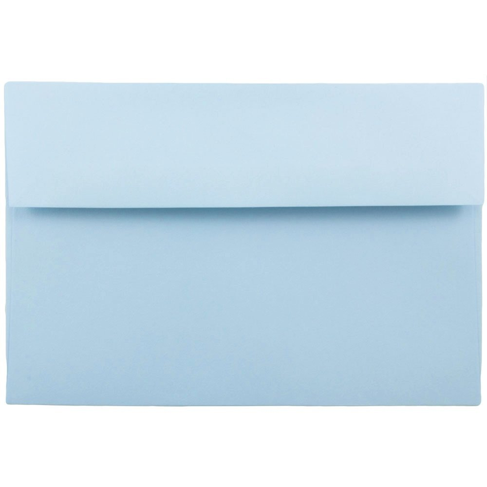 JAM PAPER A10 Premium Invitation Envelopes - 6 x 9 1/2 - Pastel Baby Blue - Bulk 250/Box
