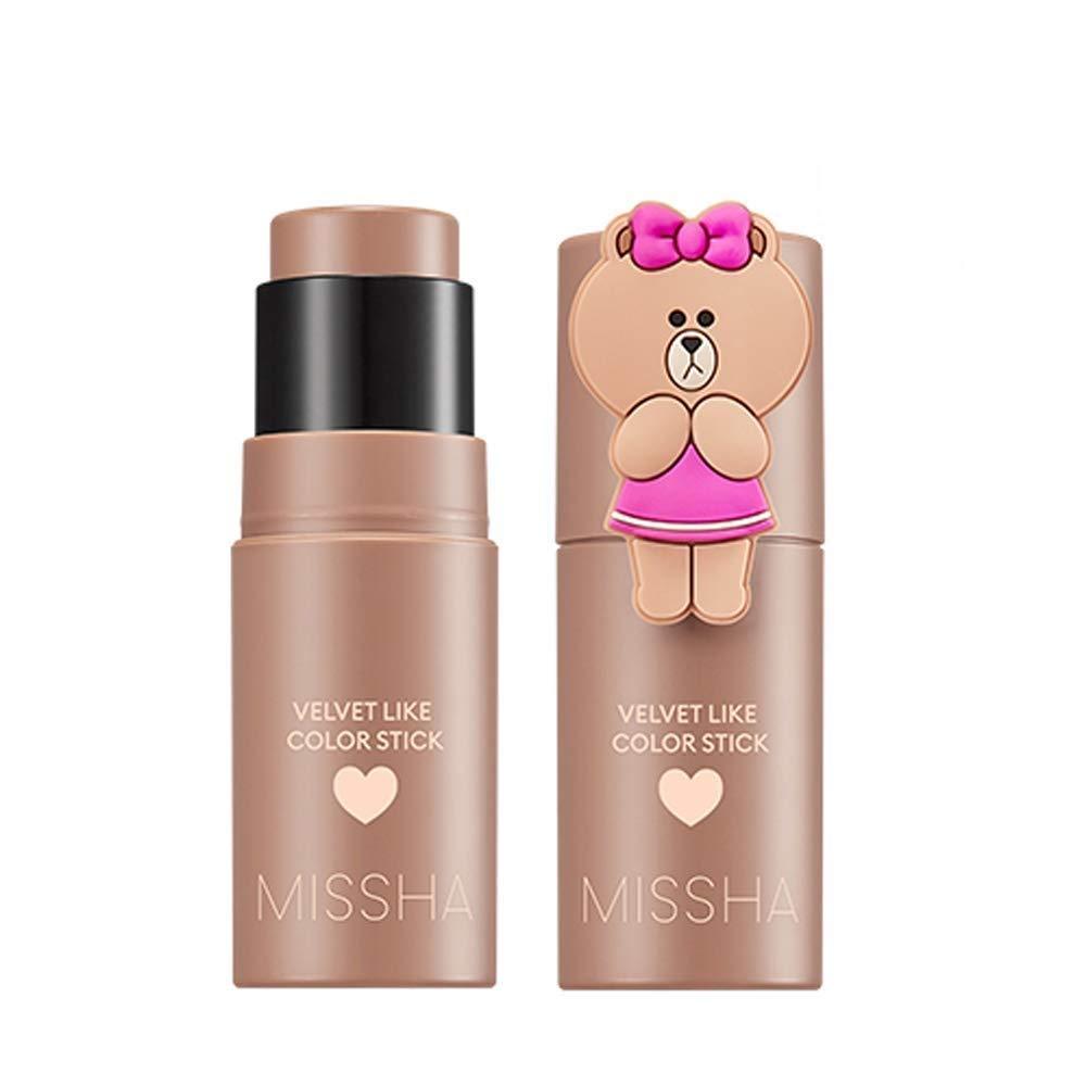 Missha - Velvet Like Color Stick, Line Friends Edition (Sephia Filter) - Dewy, Long lasting Makeup