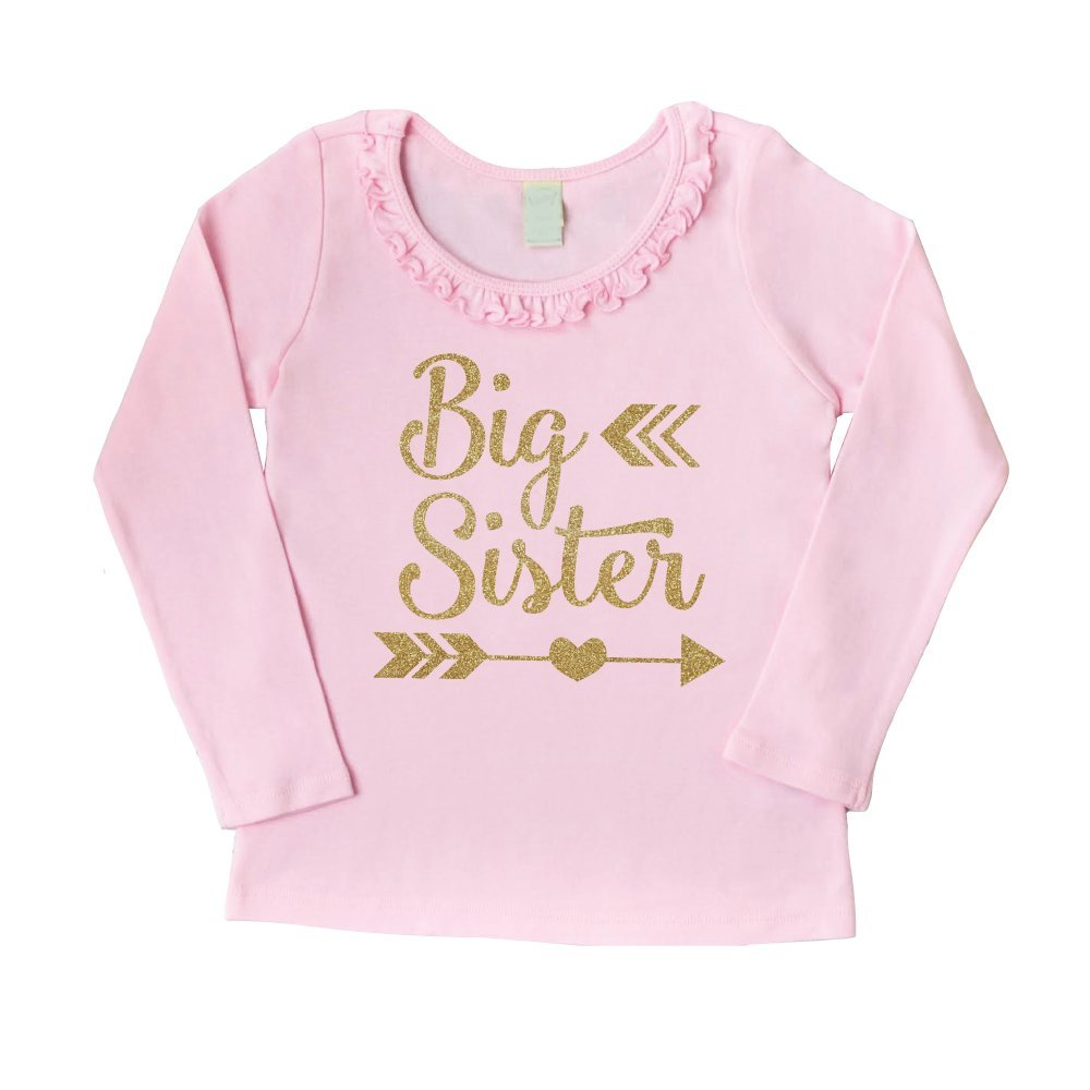Bump and Beyond Designs Big Sister Outfit Baby Girl Outfit Big Sister Shirt