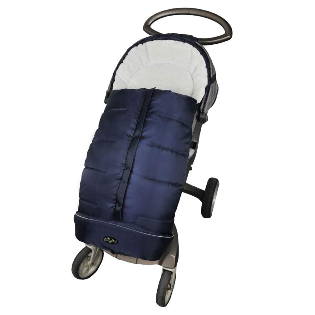 Universal Baby Footmuff Fits Most Stroller Pram-Water/Wind/Snow/Dirt Proof, Outdoor Walking Winter Warm Bunting Bag,5Ways Zippers-Central&Bottom Opens for Multi-Use,6-36M,Navy Blue