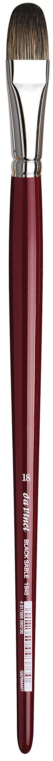 Filbert Russian Black Sable da Vinci Oil /& Acrylic Series 1845 Oil Paint Brush Size 4