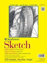 """Strathmore (350-114 STR-350-114 100 Sheet Sketch Plus, 14 by 17"""", 14""""x17"""", White"""