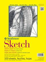 "Strathmore (350-111) STR-350-111 100 Sheet Sketch Plus, 11 by 14"", 11""x14"""
