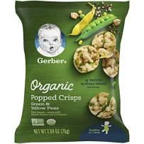 Gerber Organic Popped Crisps Yellow & Green Peas, 4 Count