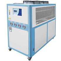 Mophorn 10 Tons Air-Cooled Industrial Chiller 10HP Compressor Finned Condenser Micro-Computer Control & 145L Stainless Steel Water Tank