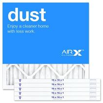 AIRx DUST 16x16x1 MERV 8 Pleated Air Filter - Made in the USA - Box of 6