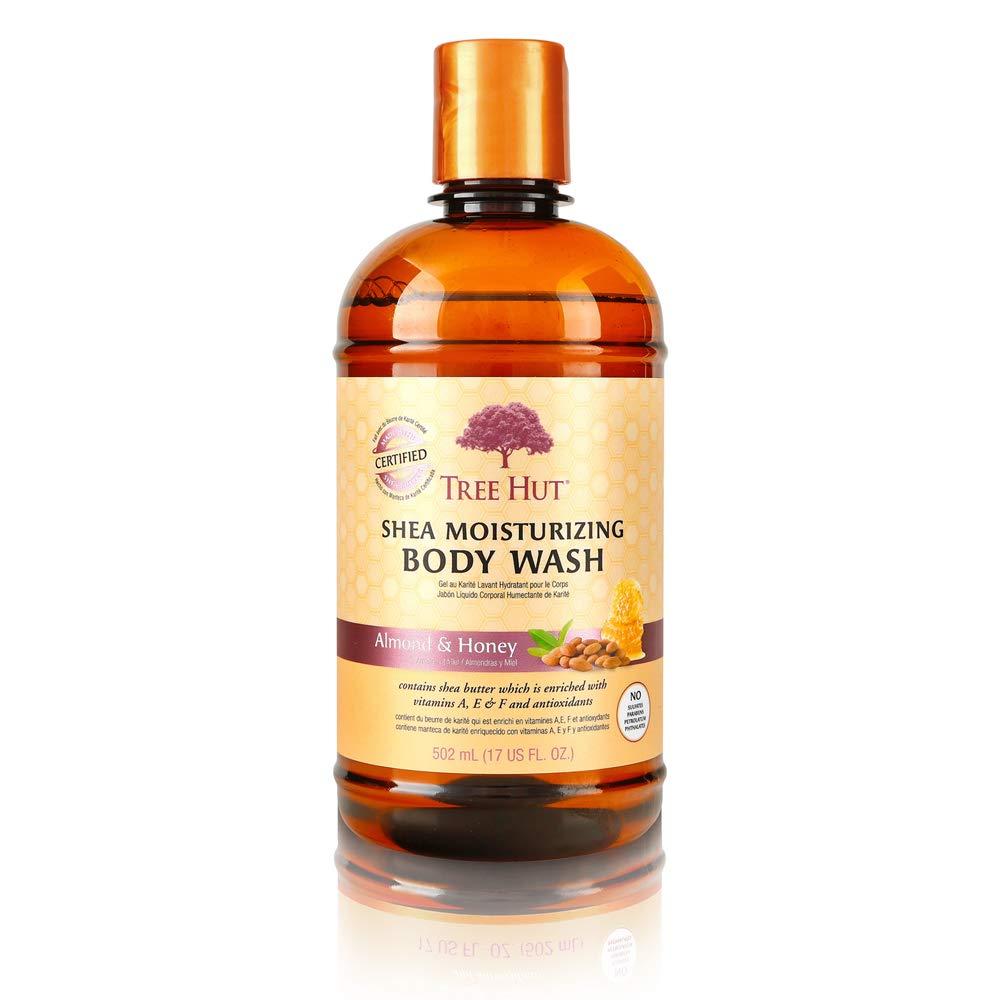 Tree Hut Shea Moisturizing Body Wash Almond & Honey, 17oz, Ultra Hydrating Body Wash for Nourishing Essential Body Care (Pack of 3)