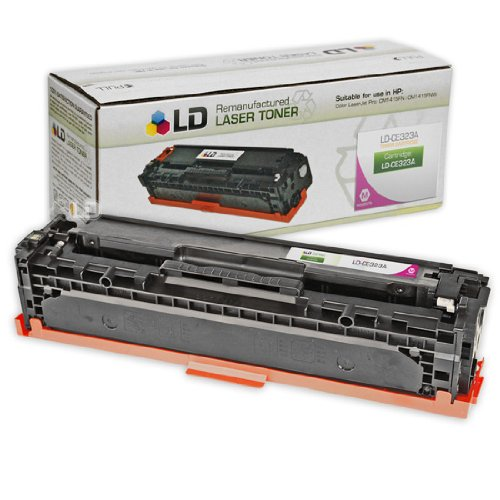 LD Remanufactured Toner Cartridge Replacement for HP 128A CE323A (Magenta)