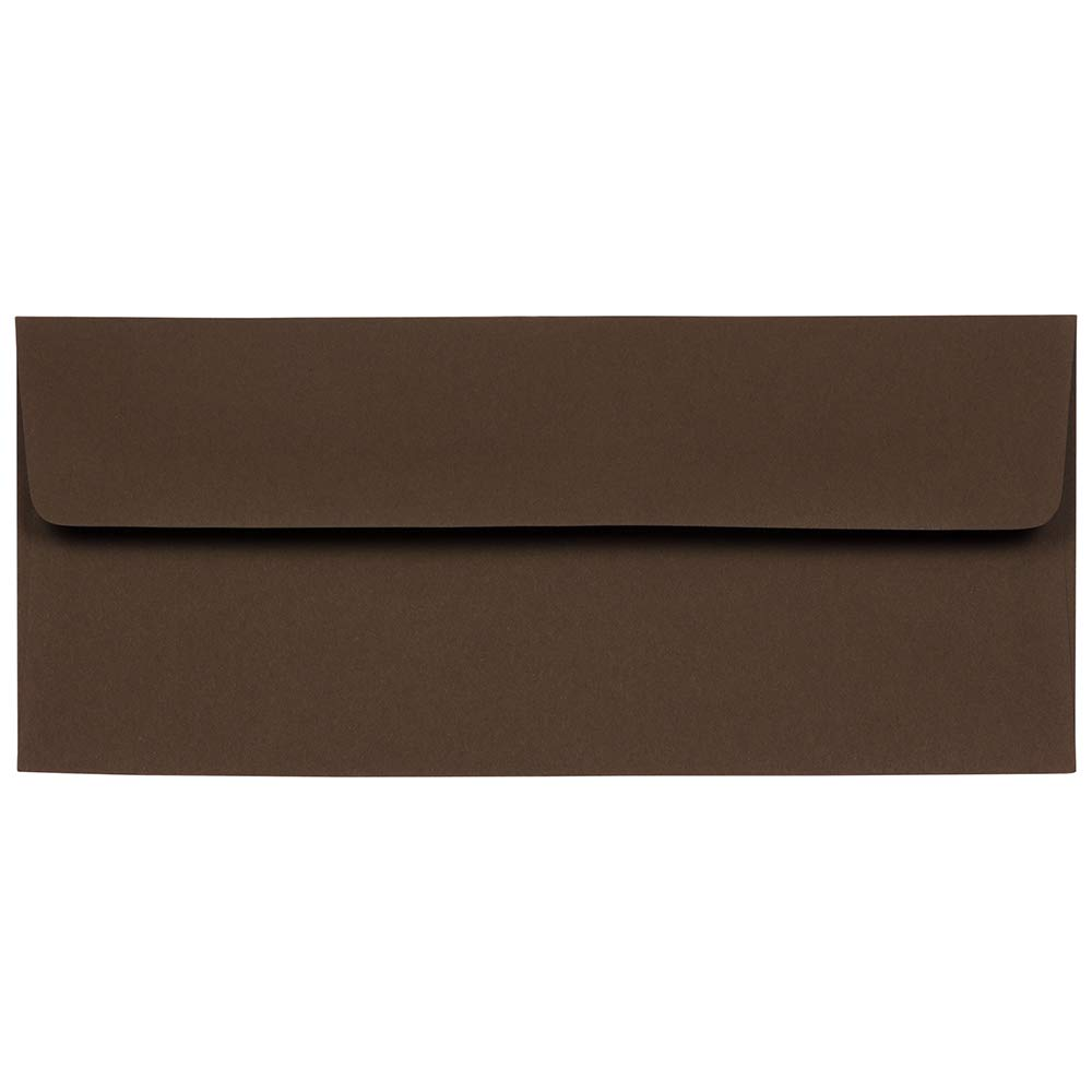 JAM PAPER #10 Business Premium Envelopes - 4 1/8 x 9 1/2 - Chocolate Brown Recycled - 25/Pack