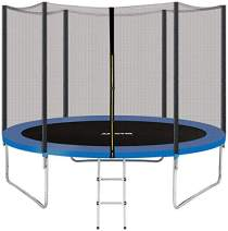 YAKEY Trampoline, 10FT Trampoline Safety Enclosure Net Combo Bounce Jump for Kids and Adult Outdoor with Spring Pad Ladder (2021 Upgraded Version)
