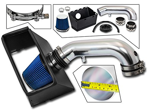 Cold Air Intake System with Heat Shield Kit + Filter Combo BLUE Compatible For 09-15 Dodge Ram 1500/09-11 & 13-15 Dodge Ram 2500/09 & 11 Dodge Ram 3500 HEMI 5.7L V8