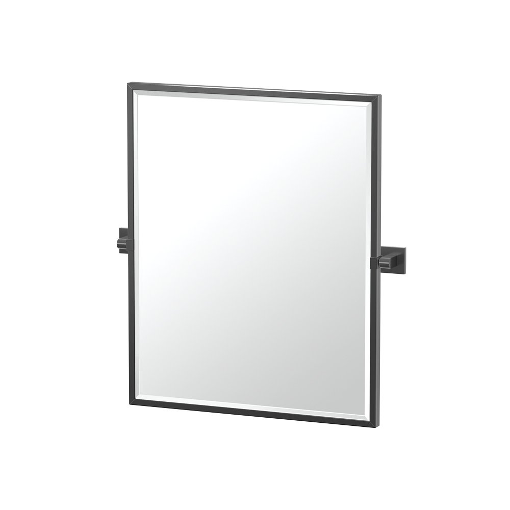 Gatco 4059XFSM Elevate Bathroom Framed Small Rectangle Mirror, 25-inch, Matte Black