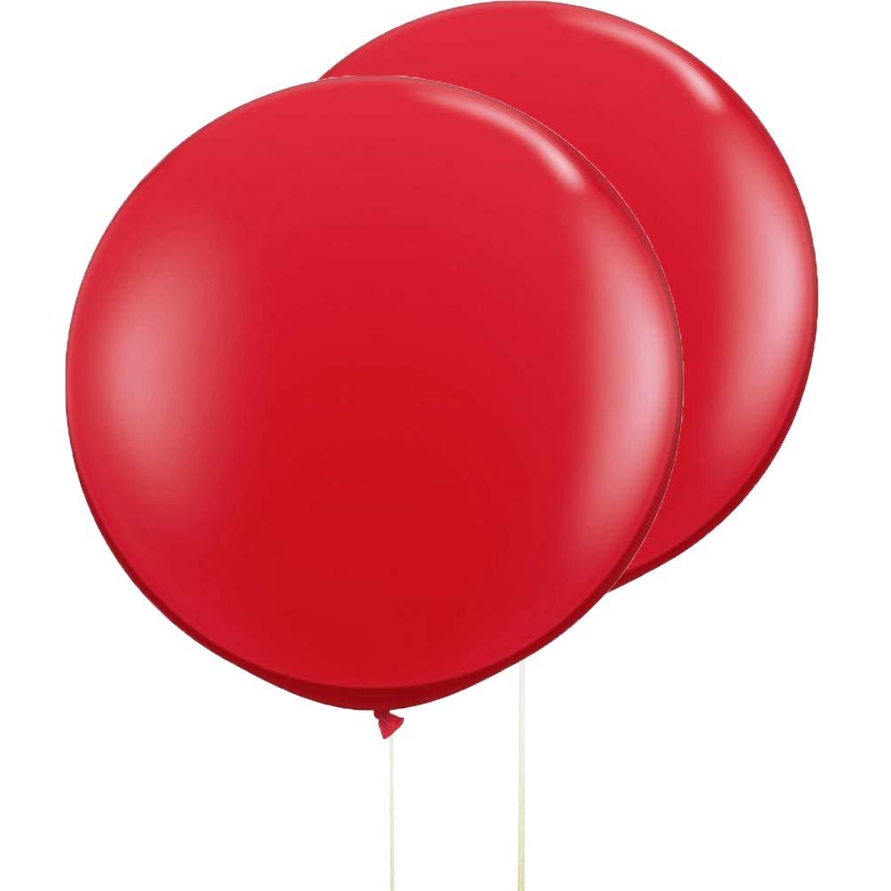 AZOWA 36 In Red Balloon Gaint Round Thicken Balloons 5 Pack