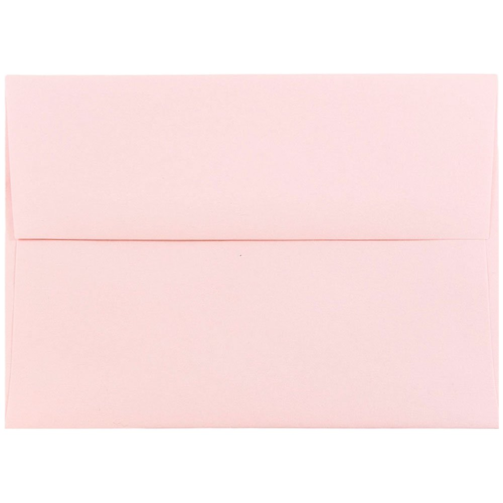 JAM PAPER A6 Premium Invitation Envelopes - 4 3/4 x 6 1/2 - Baby Pink Pastel - Bulk 500/Box