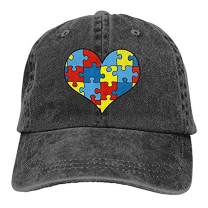NVJUI JUFOPL Men's Love Autism Awareness Baseball Cap Vintage Washed Adjustable Funny Hat