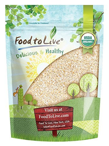 Organic Oat Bran by Food to Live (Non-GMO, Raw, High Fiber Hot Cereal, Milled from High Protein Oats, Vegan, Bulk, Product of the USA) — 1.5 Pounds