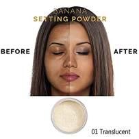 PHOERA Face Powder, Funfunman Loose Face Powder Translucent Smooth Setting Foundation Makeup, Lightweight, Long Lasting,1.02 Oz (#01 Translucent)