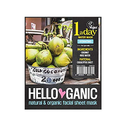 HelloGanic One a Day Water sheet mask - Organic & Vegan Facial Sheet Mask