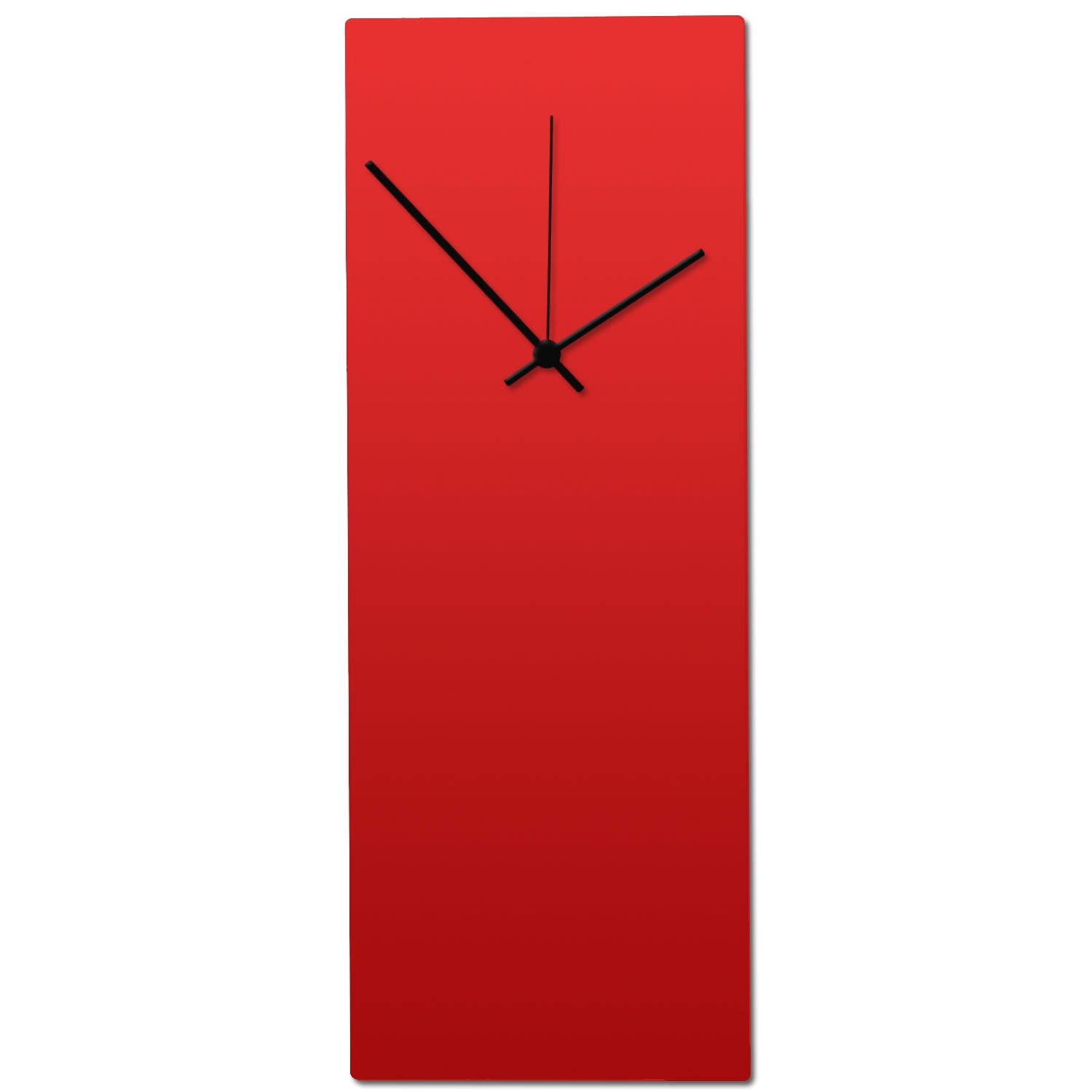 Metal Art Studio Redout Clock Contemporary Wall Decor, Small, Red Face/Black Hands