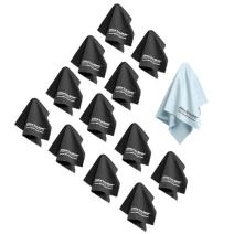 """The Most Amazing Microfiber Cleaning Cloths (13 Pack). Perfect for Cleaning All Electronic Device Screens, Eyeglasses, Tablets & Other Delicate Surfaces (12 Large 6"""" x7"""" & 1 Oversized 12"""" x12"""")"""