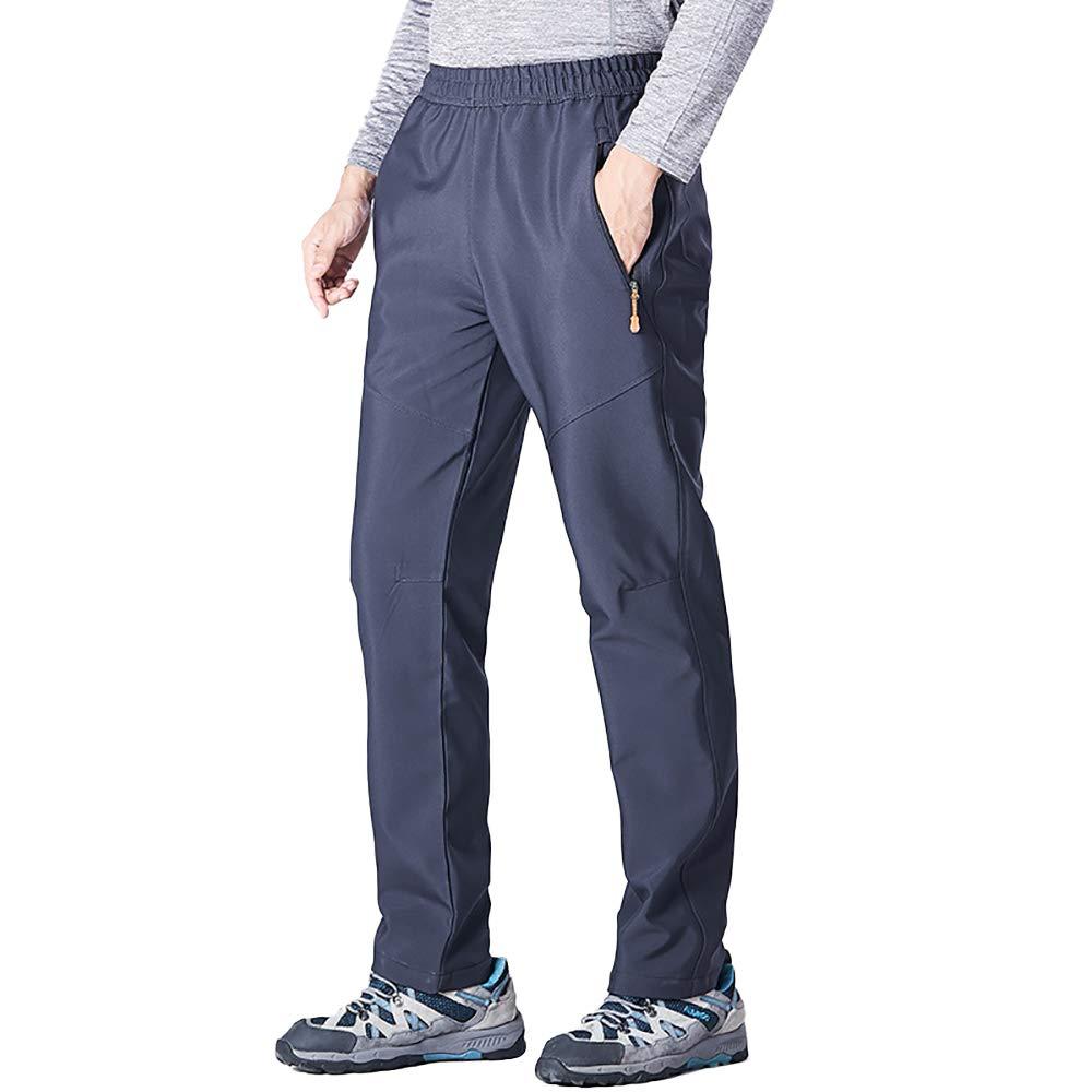 linlon Mens Waterproof Outdoor Fleece Ski Snow Soft Shell Insulated Hiking Cargo Pants