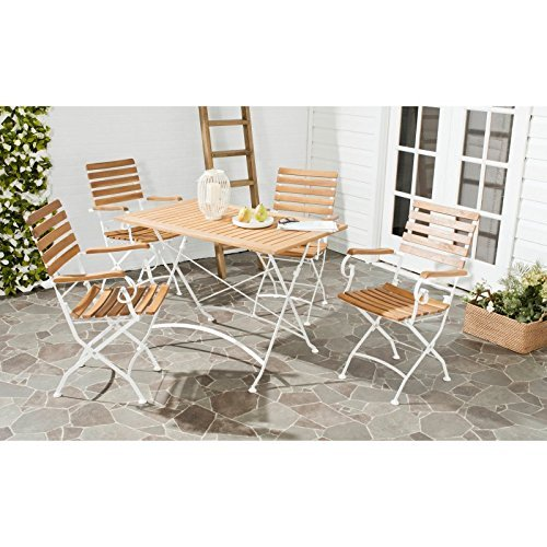 Safavieh 5-Piece Outdoor Collection Lawndale Outdoor Dining Set