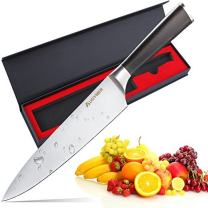 Chef Knife, AUGYMER 8 Inch Professional Chefs Knife High Carbon Stainless Steel Kitchen Sharp Chefs Knife (AU7CG03)