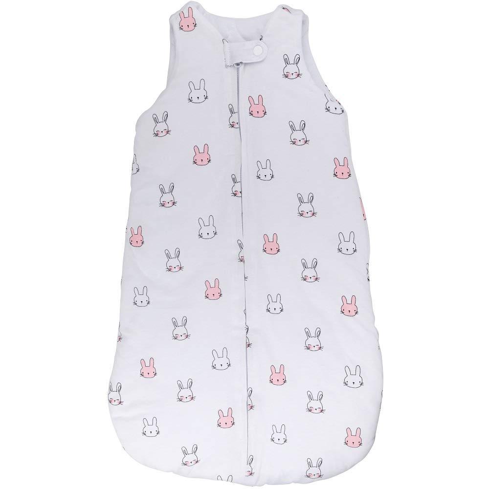 100% Cotton Wearable Blanket Baby Sleep Bag Pink Bunnies 2 Pack (6-12 Months)