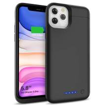SHENMZ Battery Case for iPhone 11 Pro, 5500mAh Charger Charging Rechargeable Extended Backup Battery Pack - Black