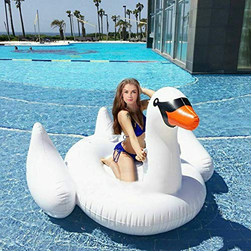 Goplus Pool Float, Swimming Pool Raft Lounge for Adults & Kids, Inflatable Toy for Summer Pool Party, Beach Toys (Giant Swan)