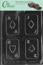 Cybrtrayd M003 Cards Chocolate Candy Mold with Exclusive Cybrtrayd Copyrighted Chocolate Molding Instructions