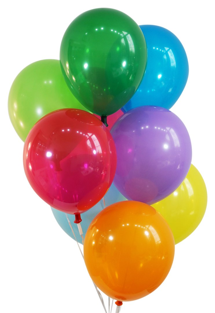 """Creative Balloons 12"""" Latex Balloons - Pack of 100 Pieces - Decorator Assorted Colors"""