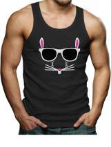Easter Bunny Graphic Shirt Hipster Rabbit Funny Men's Tank Top