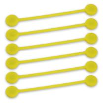TwistieMag Strong Magnetic Twist Ties - The You are My Sunshine Collection - Yellow 6 Pack - Super Powerful Unique Solution for Cable Management, Hanging & Holding Stuff, Fidgeting, Or Just for Fun!