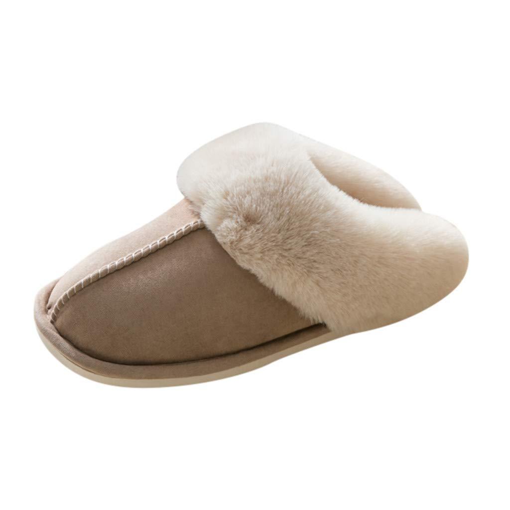 UONQD Womens Slipper Memory Foam Fluffy Soft Warm Slip On House Slippers, Anti-Skid Cozy Plush for Indoor Outdoor