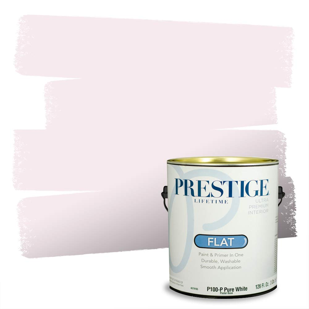 Prestige Interior Paint and Primer in One, 1-Gallon, Flat, Cameo Pink