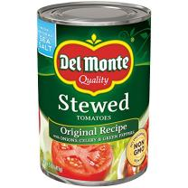 Del Monte Canned Stewed Tomatoes, Original Recipe, 14.5-Ounce Cans (Pack of 12)