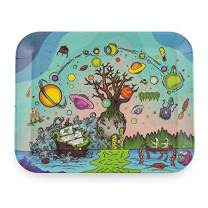 """Ooze Life - Tree of Life, Small 7.5"""" x 6"""" - Biodegradable Rolling Tray - Chemical Free Bamboo Rolling Tray - Serving Tray - Decomposable Tray - Dry Herb Accessories - Non-polluting Rolling Tray"""