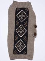 Happiness Hugs Thunderbolt Hug Dog Sweater - Handmade Yak Down Dog Sweaters, Softer and More Sustainable Than Cashmere, Warmer Than Merino Wool, Breathable, Fashionable and Eco-Friendly