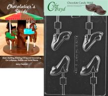 Cybrtrayd Bk-D108 High Heel Shoe Lolly Dads and Moms Chocolate Candy Mold with Chocolatier's Guide Instructions Book Manual