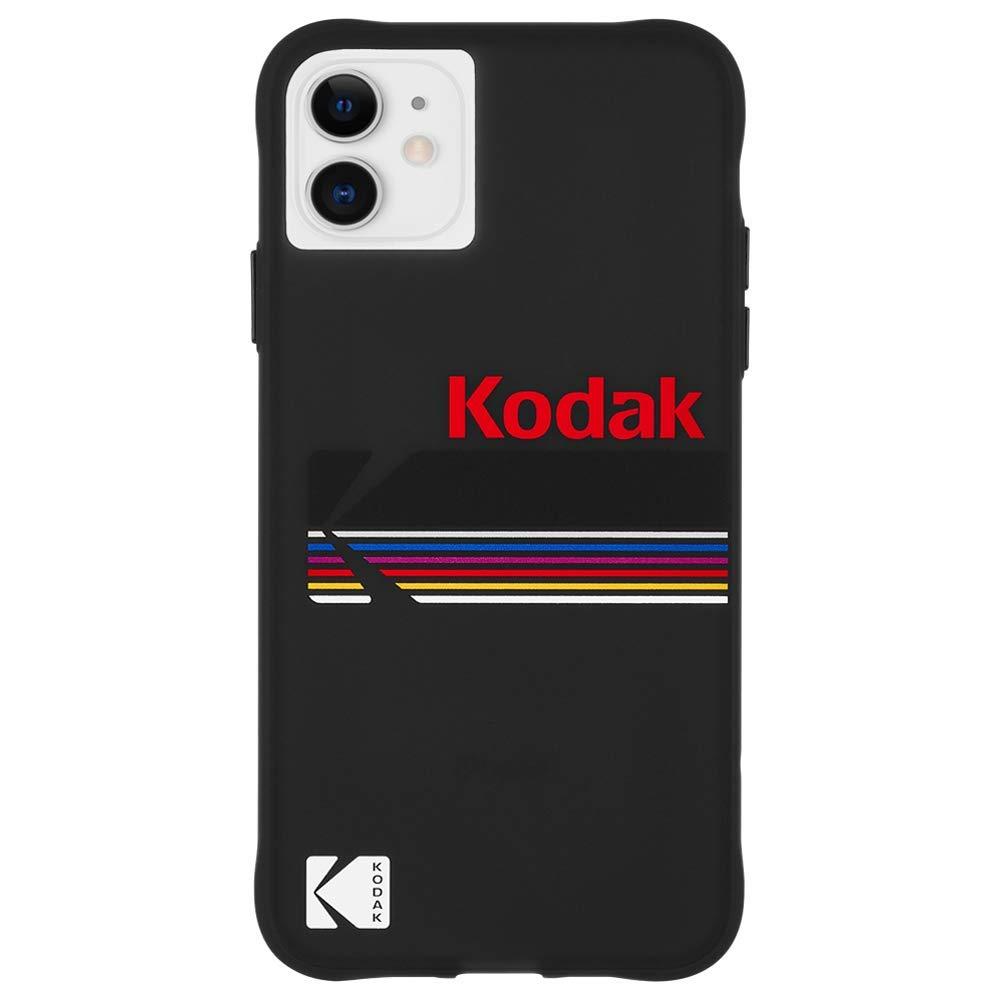 Kodak x CASE-MATE - iPhone 11 Case - Kodak Matte Black + Shiny Black Logo Case